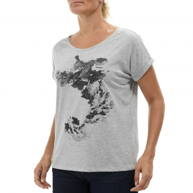 Camiseta - Mujer - caqui ANGEL LIMITED TS SS W Millet 2