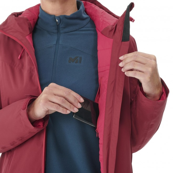 Chaqueta impermeable - Mujer - rojo FITZ ROY INSULATED JACKET W Millet 5