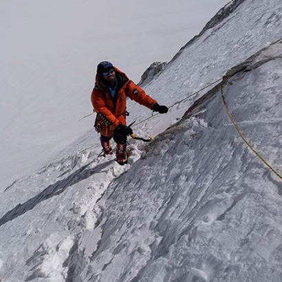 Y. Graziani at the top of the Gasherbrum I!