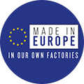 Made in Europe in our own factories
