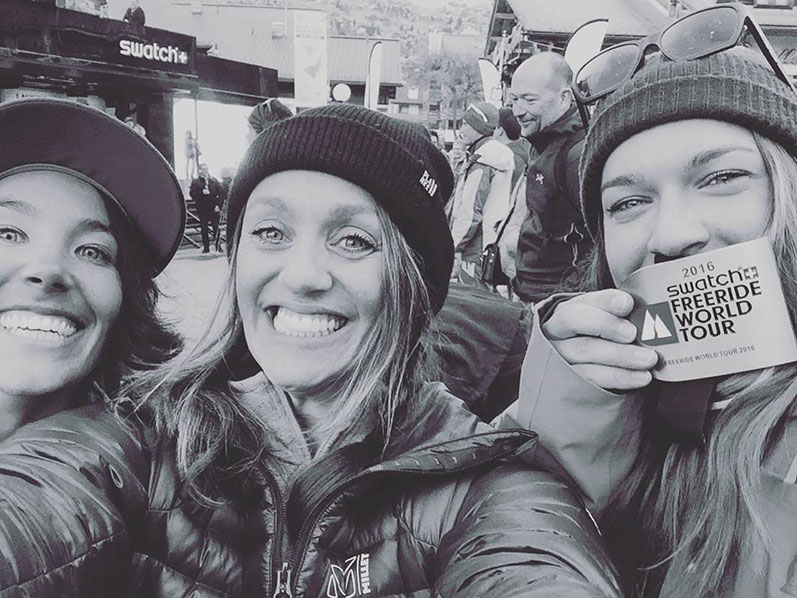 Eva Walkner with her friends during the FWT
